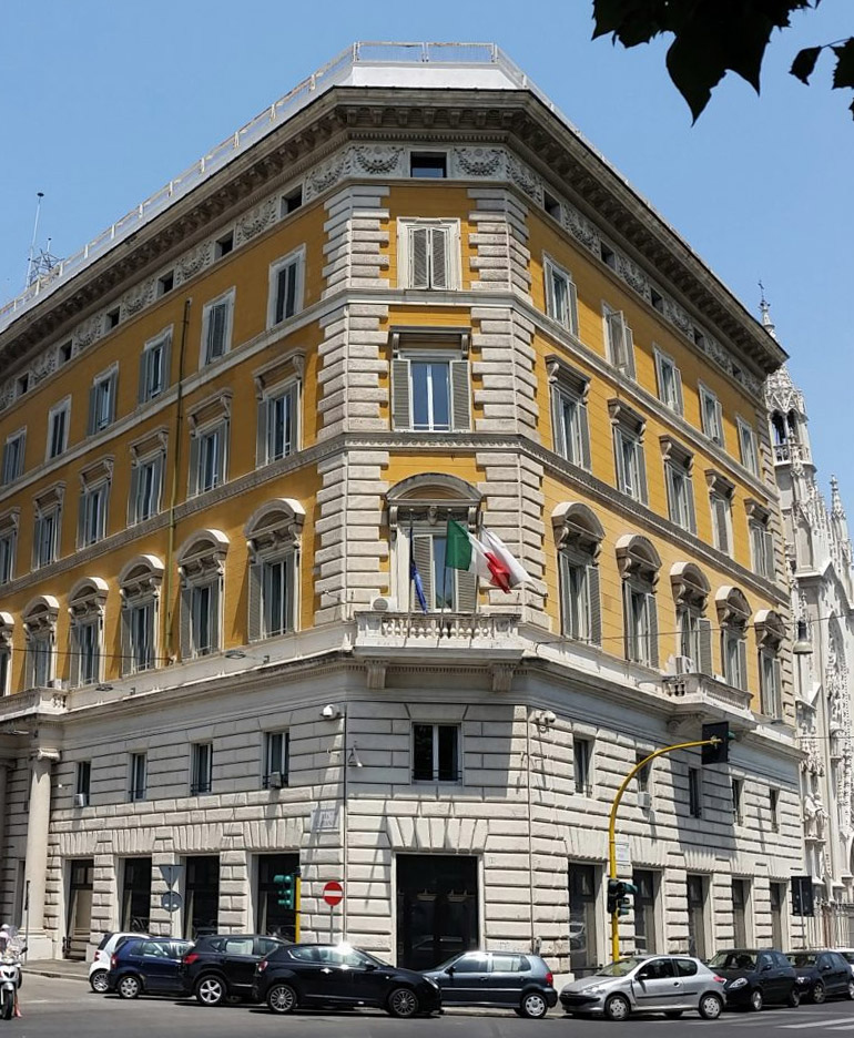 Ministry of Civil Protection - Central Office via Vulpiano - Rome