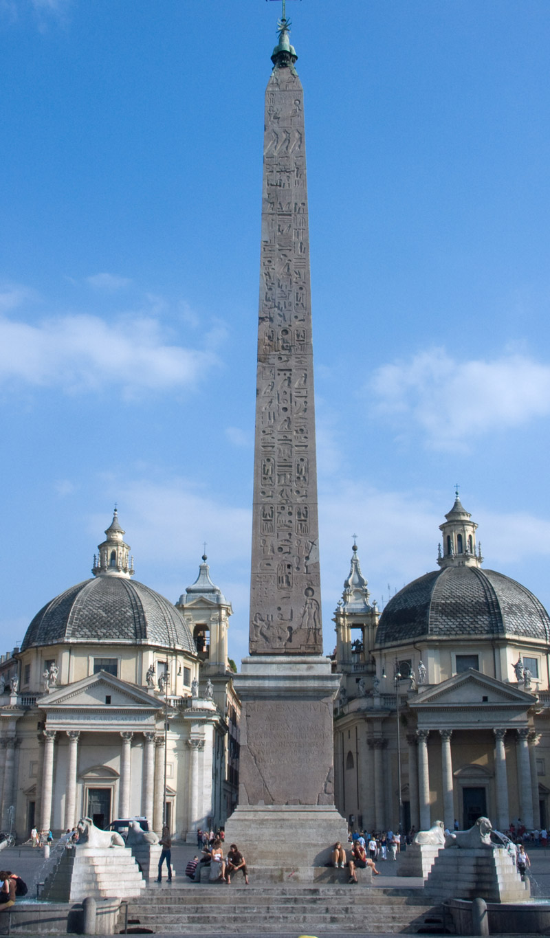"Egyptian Obelisk known as ""Flaminio"" - Piazza del Popolo, Rome"