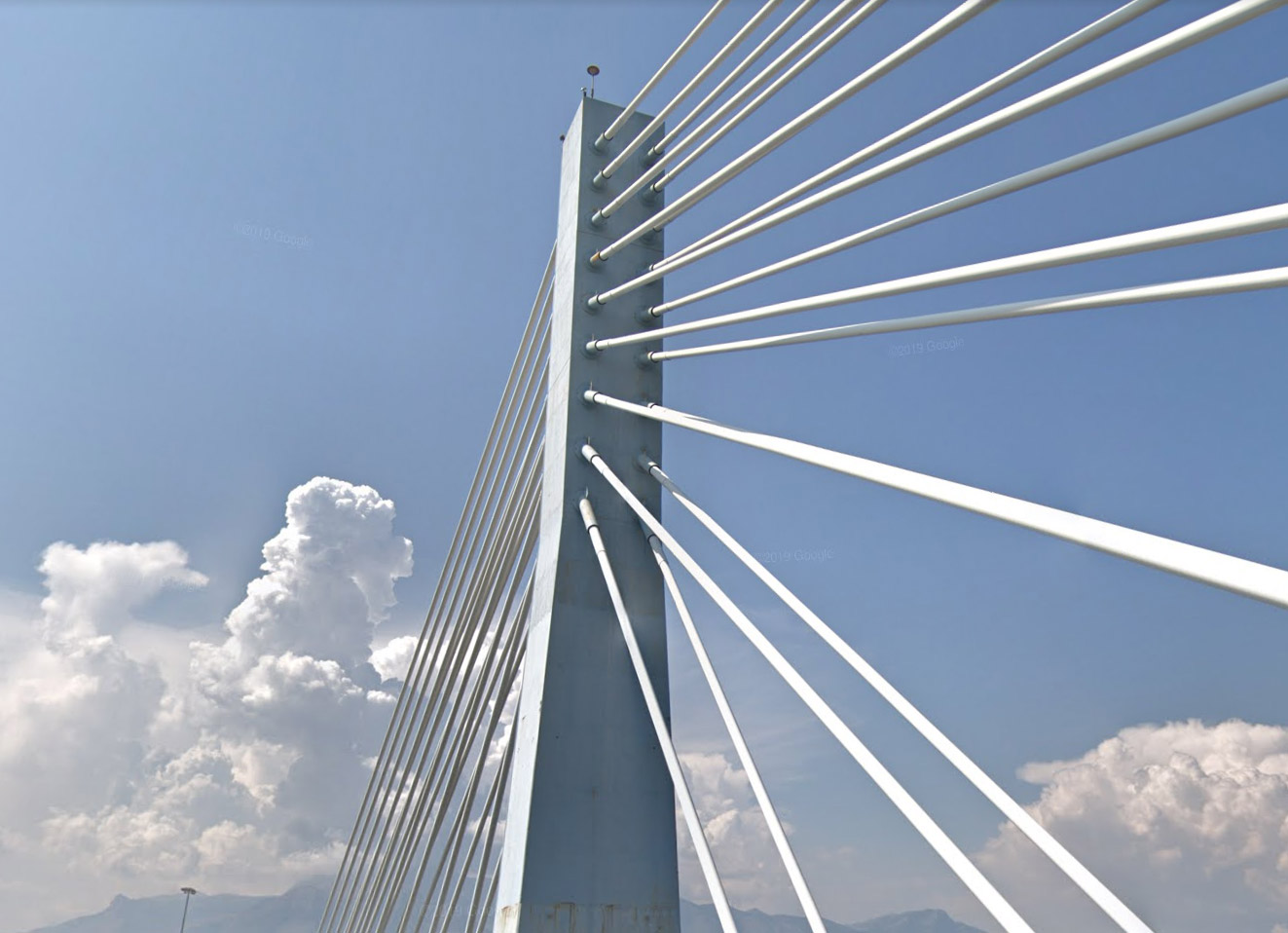 Cable-stayed bridge over the Garigliano river - municipality of Sessa Aurunca, Caserta